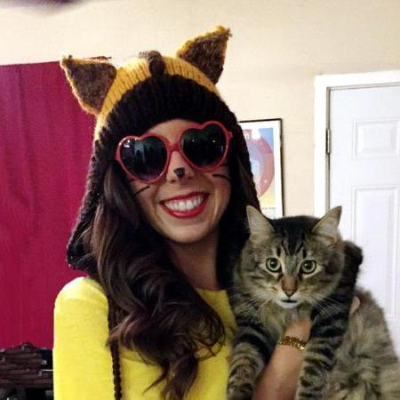 Hand Knitted Dark Brown and mustard yellow cat ears hat, fox hood, animal hats for adults
